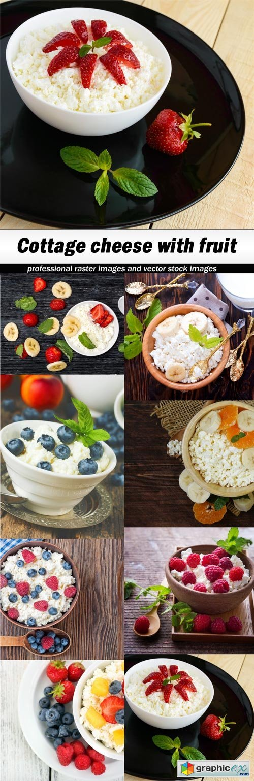 Cottage cheese with fruit - 8 UHQ JPEG