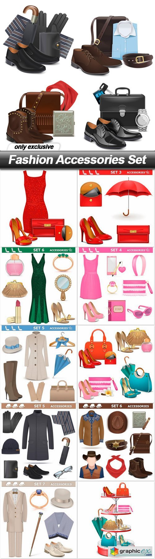 Fashion Accessories Set - 11 EPS