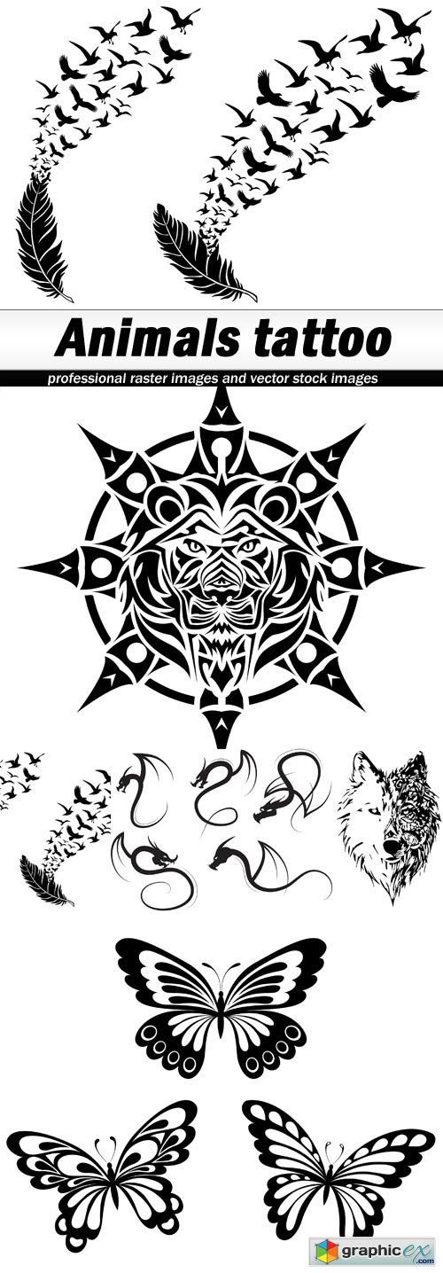Animals tattoo - 5 EPS
