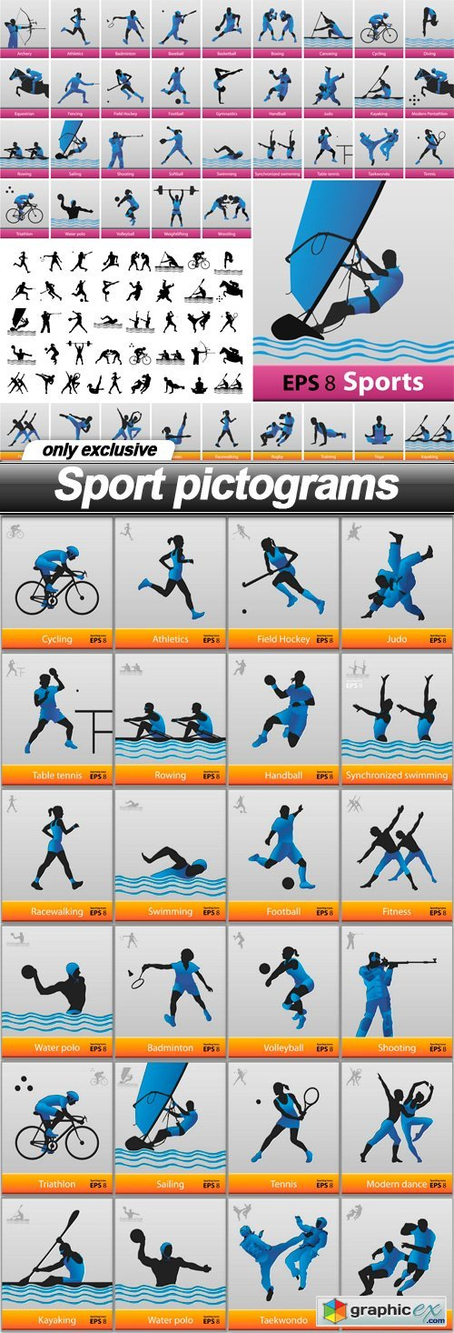 Sport pictograms - 25 EPS