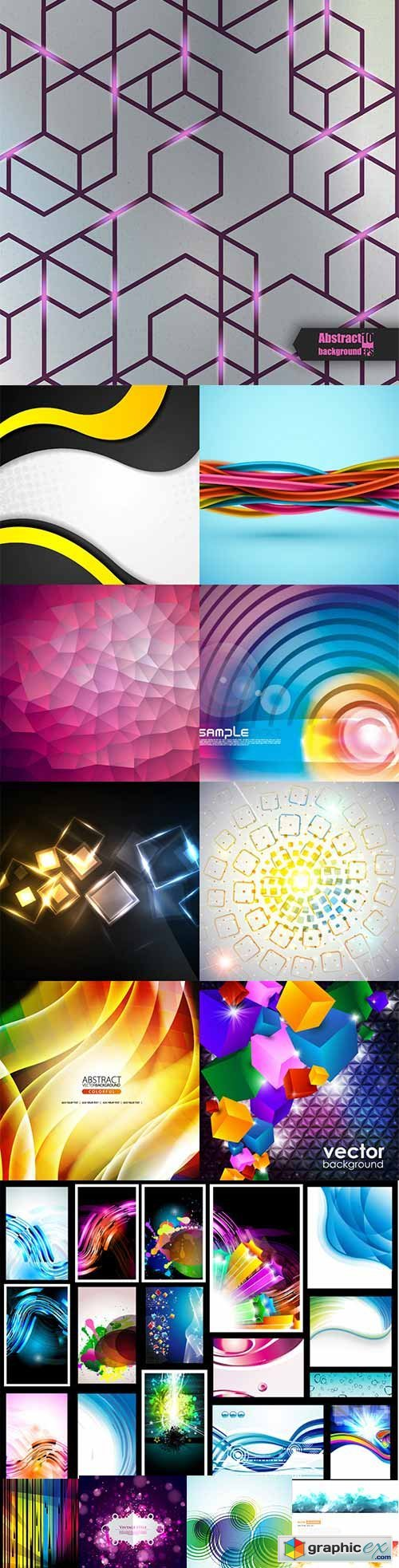 Bright colorful abstract backgrounds vector -45