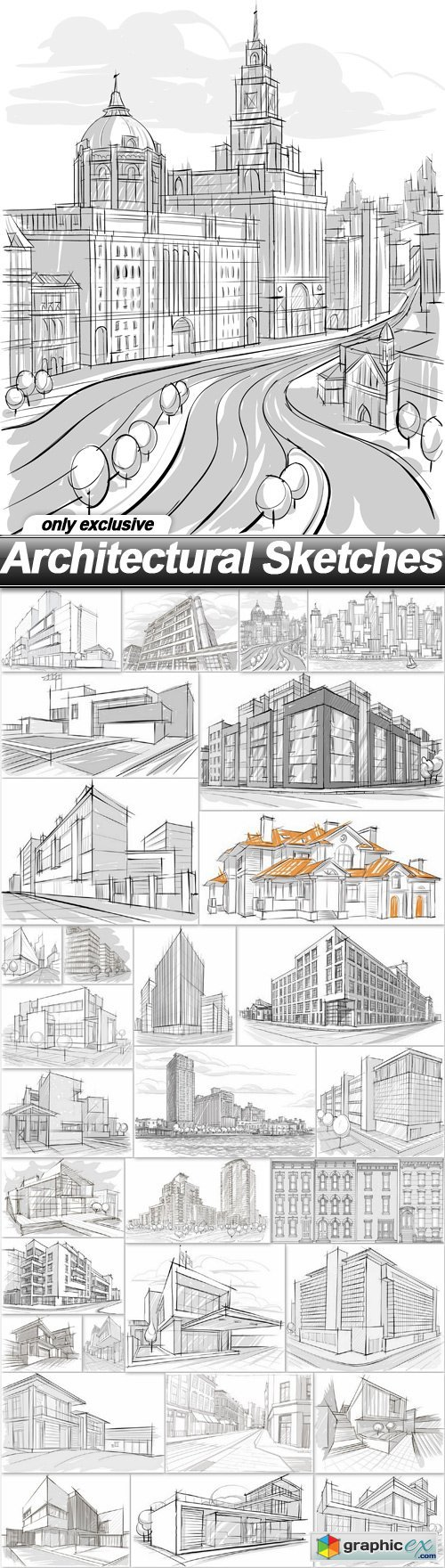 Architectural Sketches - 30 EPS