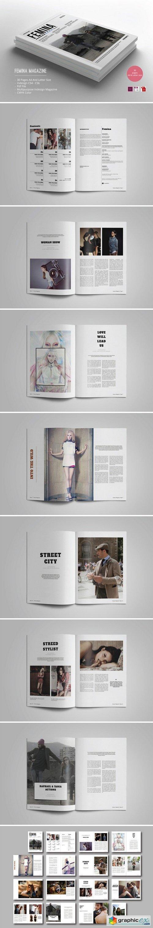 Femina Magazine Template