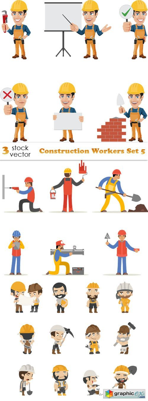 Construction Workers Set 5