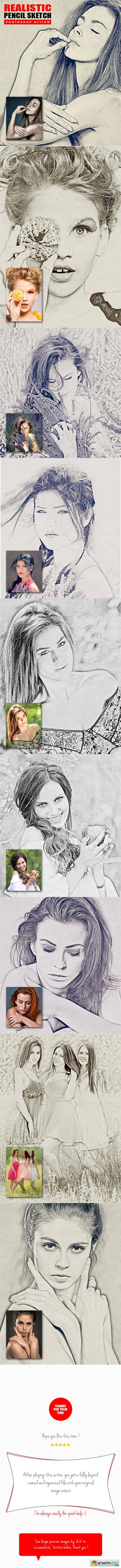 Realistic pencil sketch photoshop action