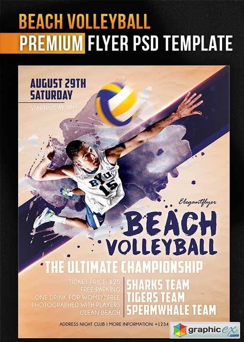 volleyball flyers templates