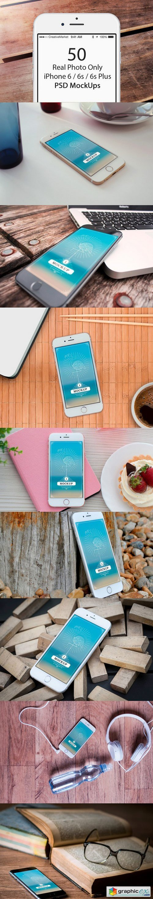 50 Only iPhone 6/6s/6s Plus Mockups