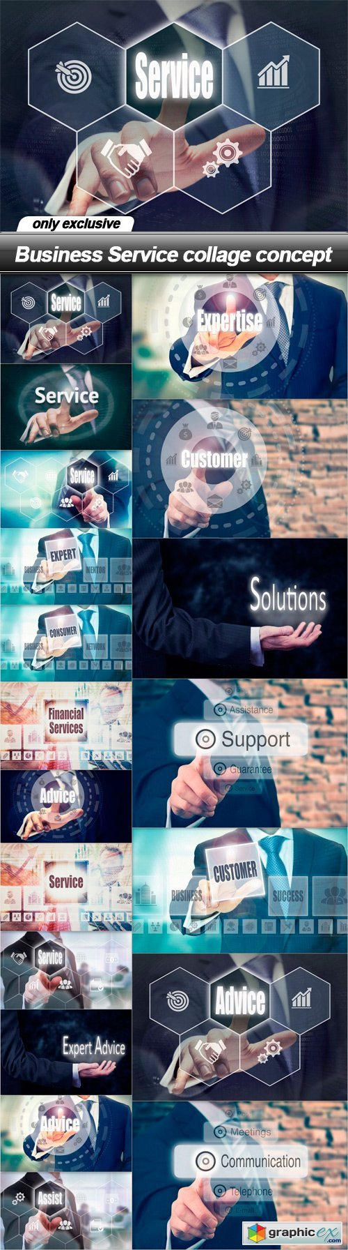 Business Service collage concept - 19 UHQ JPEG
