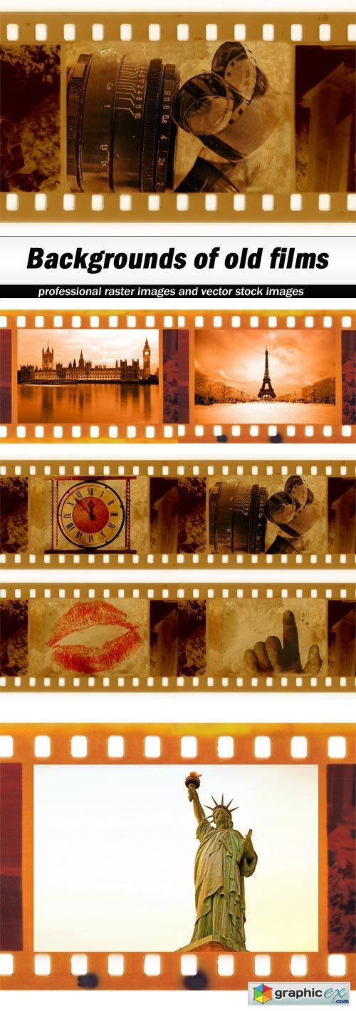 Backgrounds of old films - 7 UHQ JPEG
