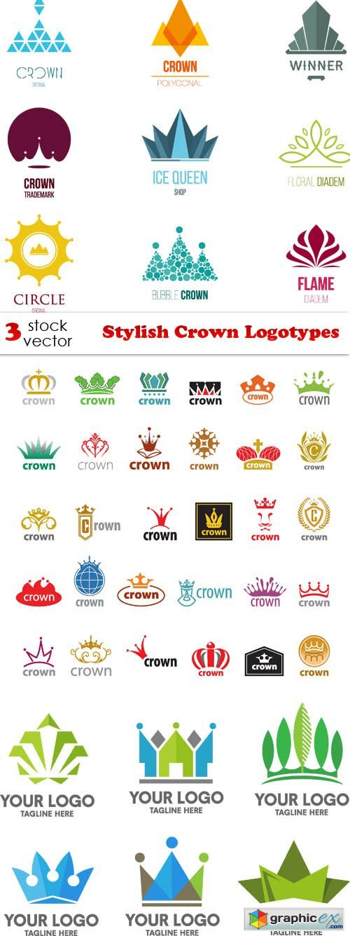 Stylish Crown Logotypes