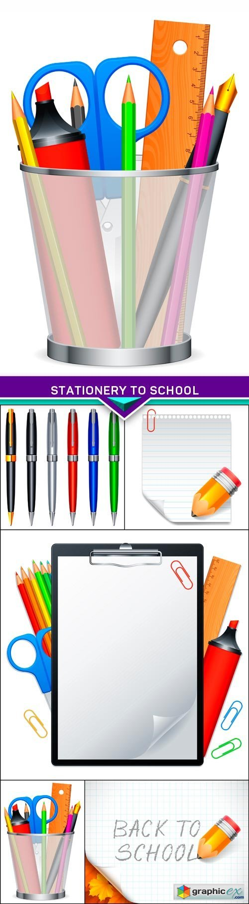 Stationery to school 5X EPS