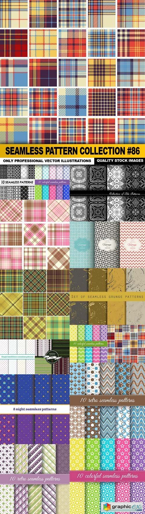 Seamless Pattern Collection #86 - 15 Vector
