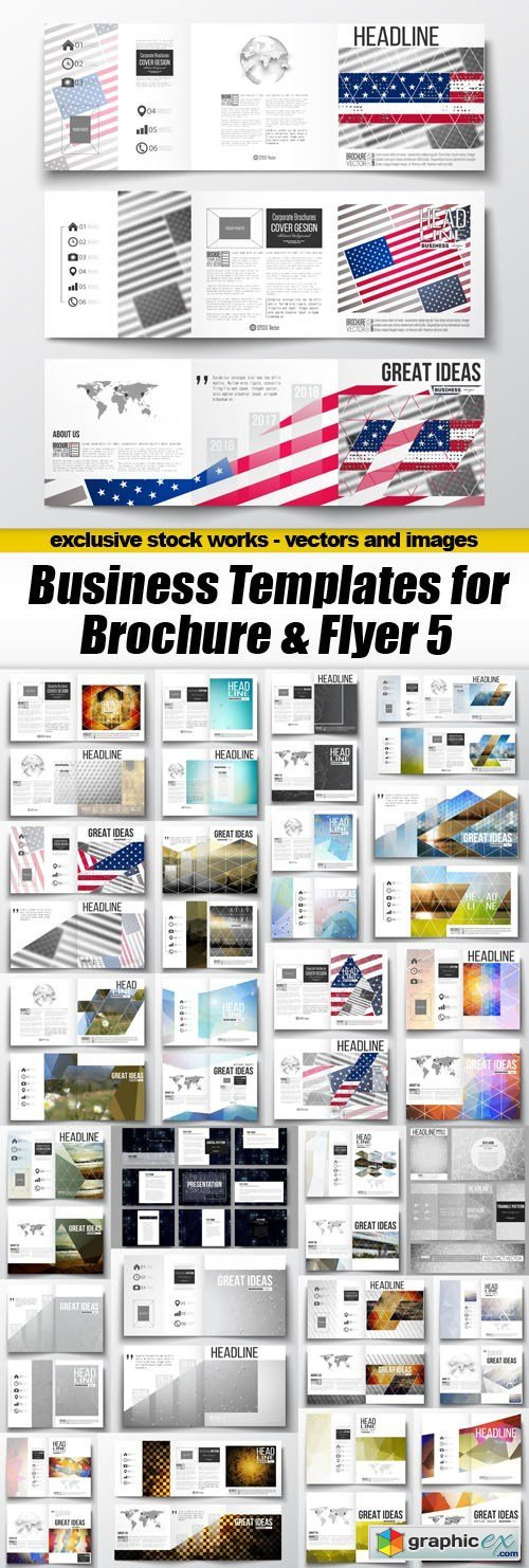 Business Templates for Brochure & Flyer 5 - 25xEPS