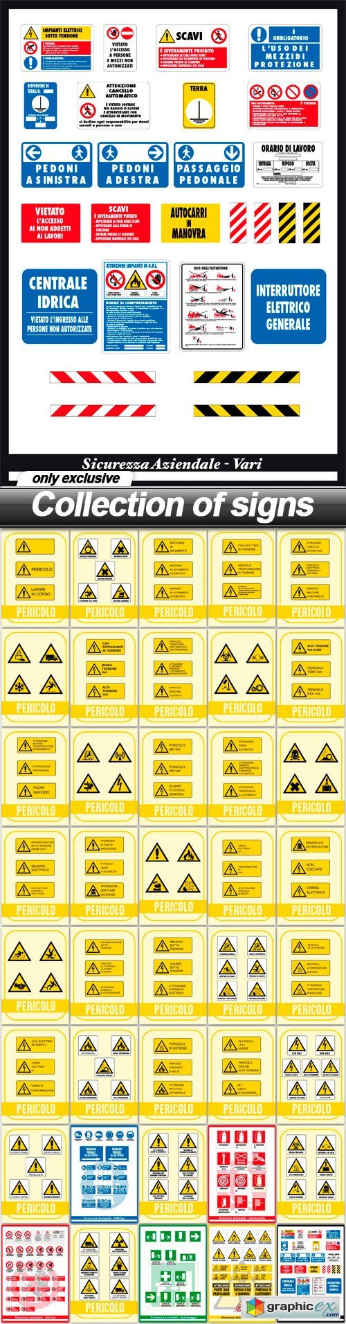 Collection of signs - 40 EPS