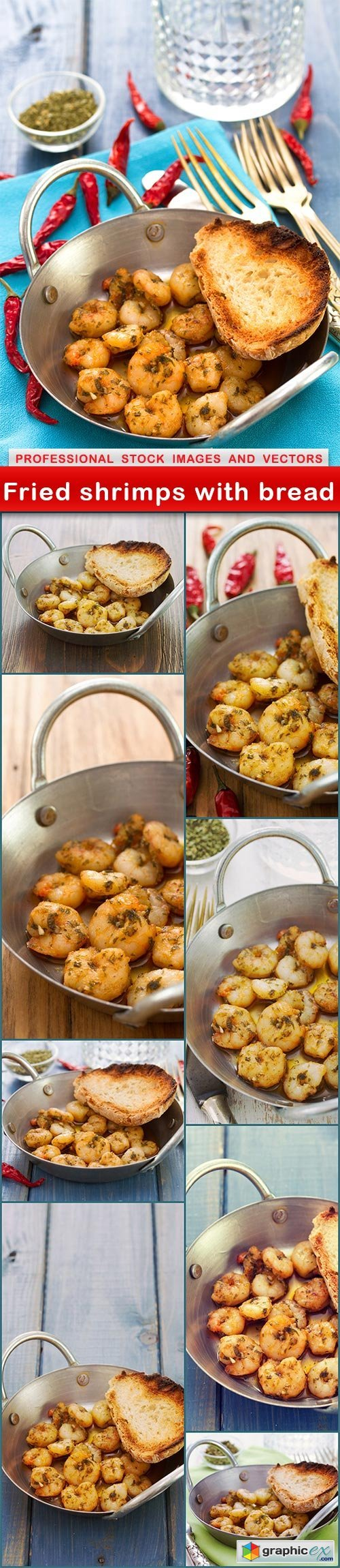 Fried shrimps with bread - 9 UHQ JPEG
