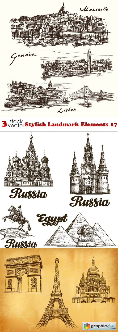 Stylish Landmark Elements 17