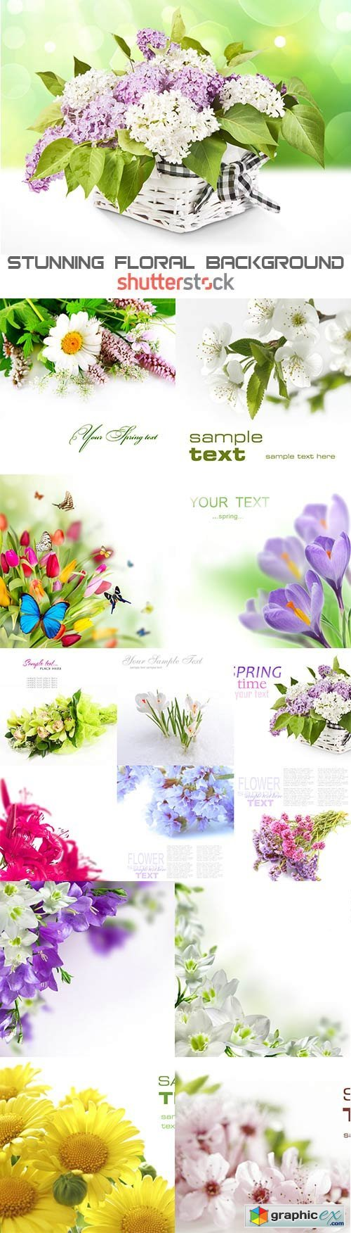 Stunning Floral raster background