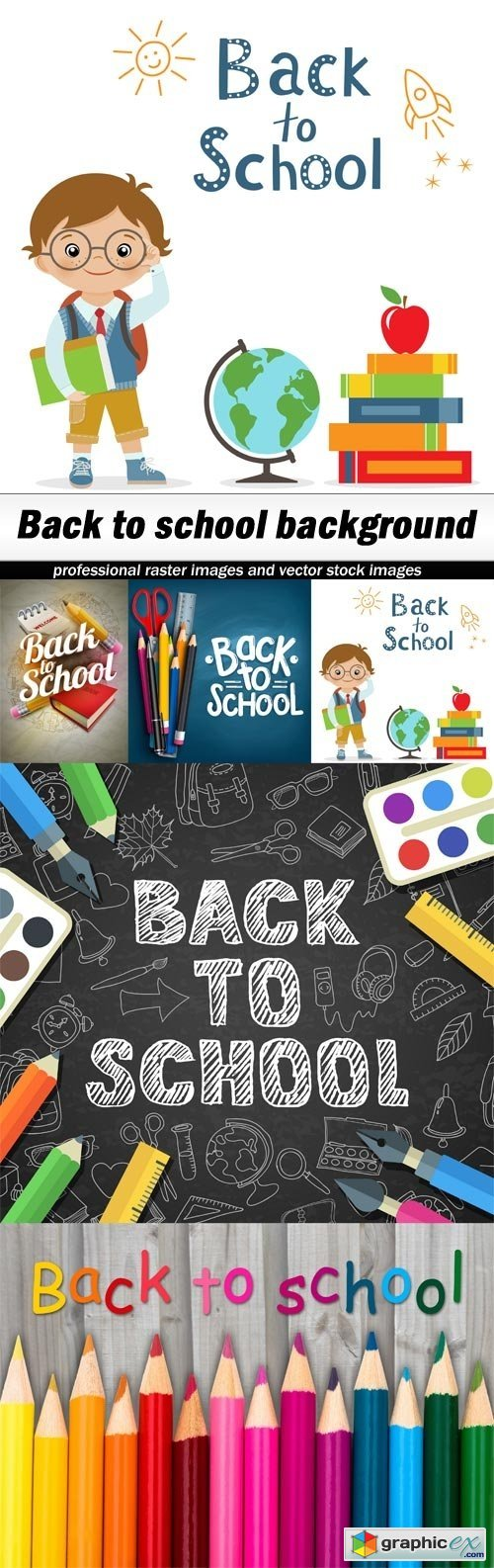 Back to school background - 5 UHQ JPEG