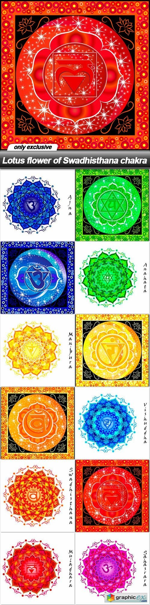 Lotus flower of swadhisthana chakra 12 eps free download vector lotus flower of swadhisthana chakra 12 eps izmirmasajfo