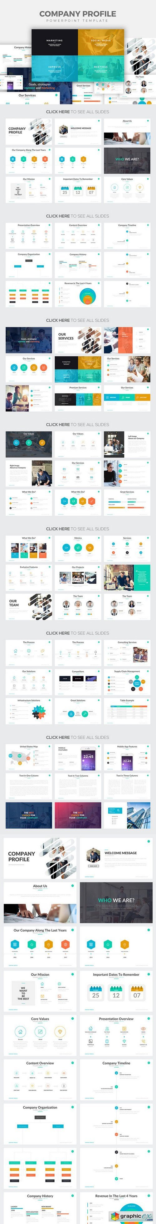 Company Profile Powerpoint Template 800462 Free Download Vector