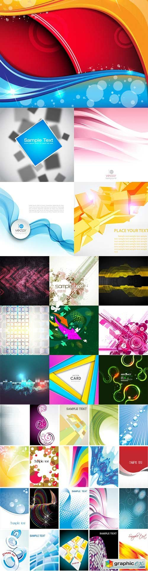 Bright colorful abstract backgrounds vector -48