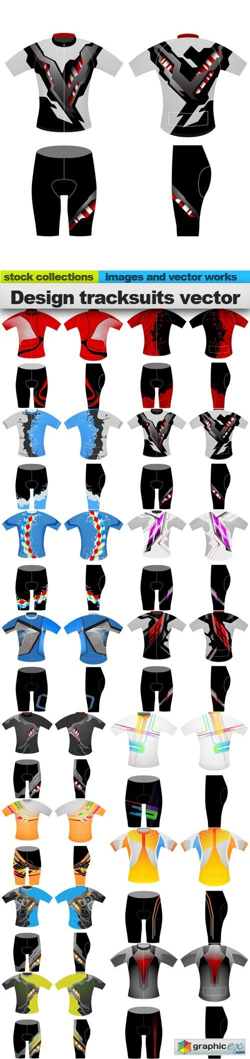 Design tracksuits vector, 15 x EPS