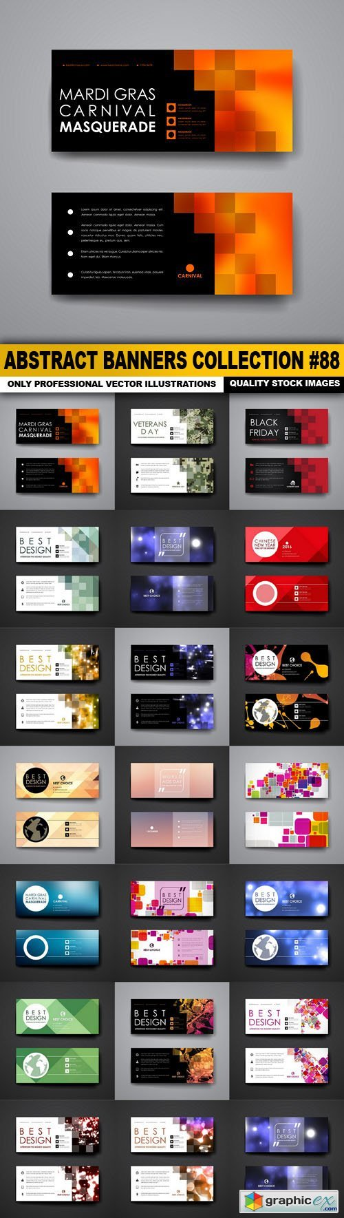 Abstract Banners Collection #88 - 20 Vectors