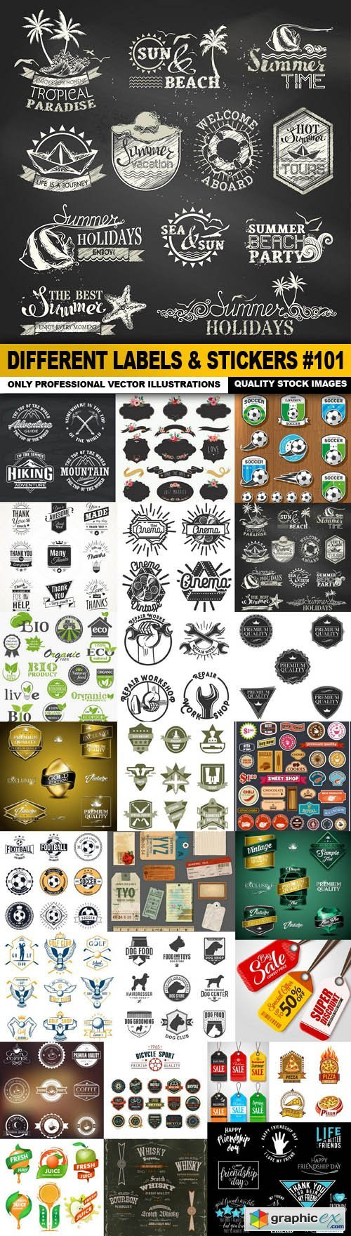 Different Labels & Stickers #101 - 25 Vector