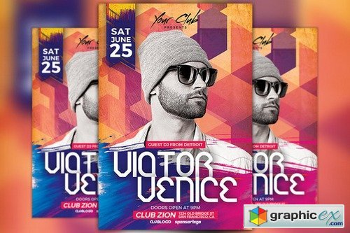DJ Victor Party Flyer Template