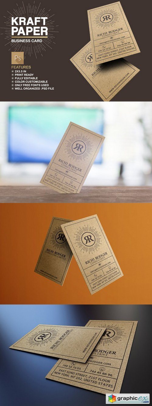 Kraft Paper Business Card 512009