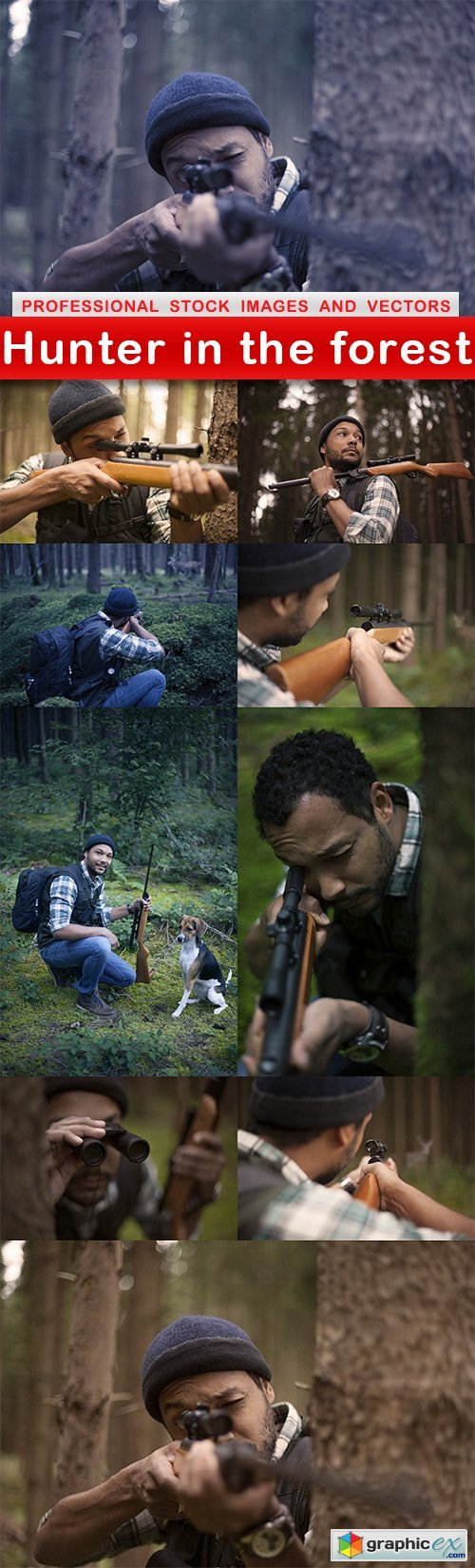 Hunter in the forest - 10 UHQ JPEG