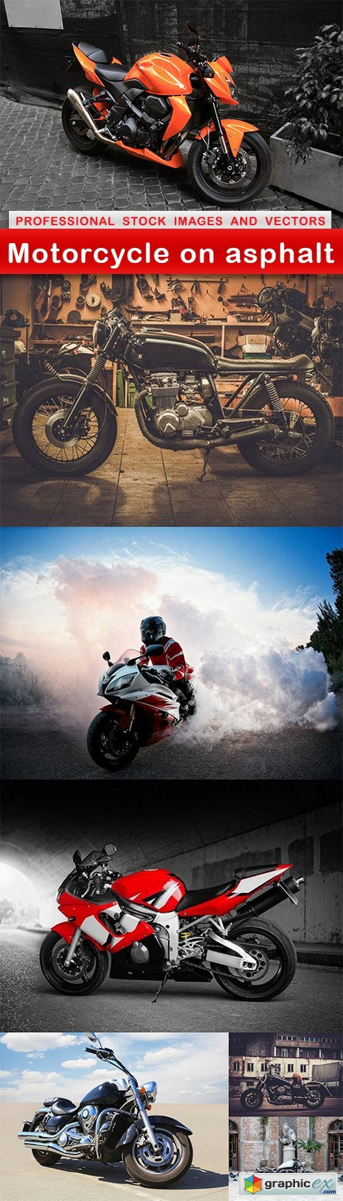 Motorcycle on asphalt - 7 UHQ JPEG