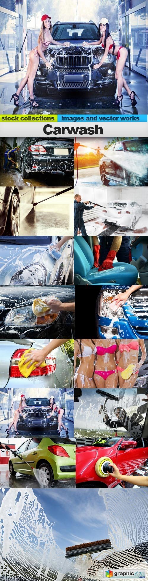 Carwash, 15 x UHQ JPEG