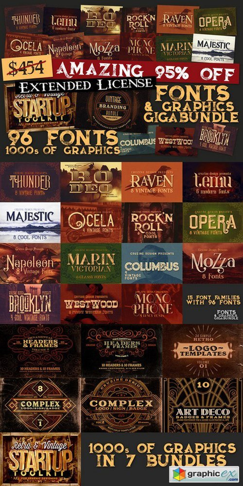 Fonts & Graphics GigaBundl