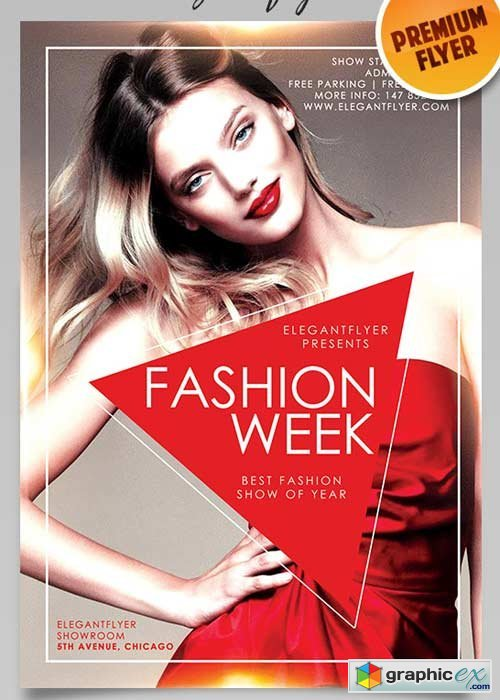 Fashion Week V3 Flyer PSD Template + Facebook Cover