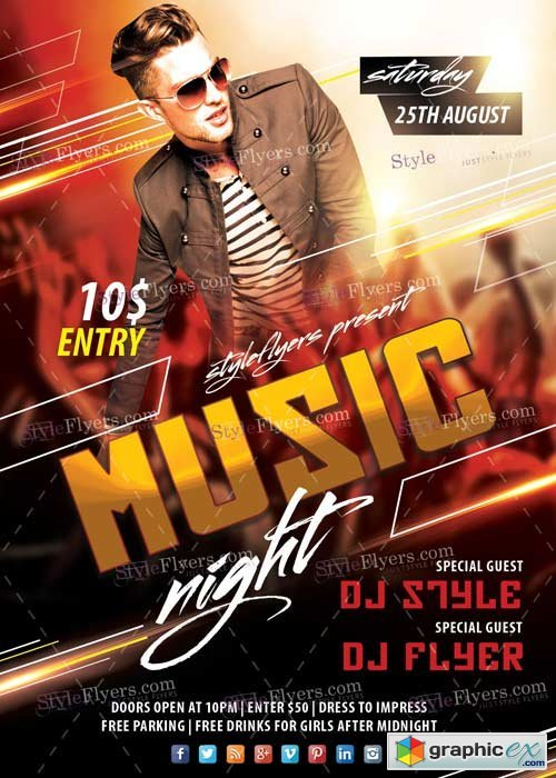Music Night V4 PSD Flyer Template