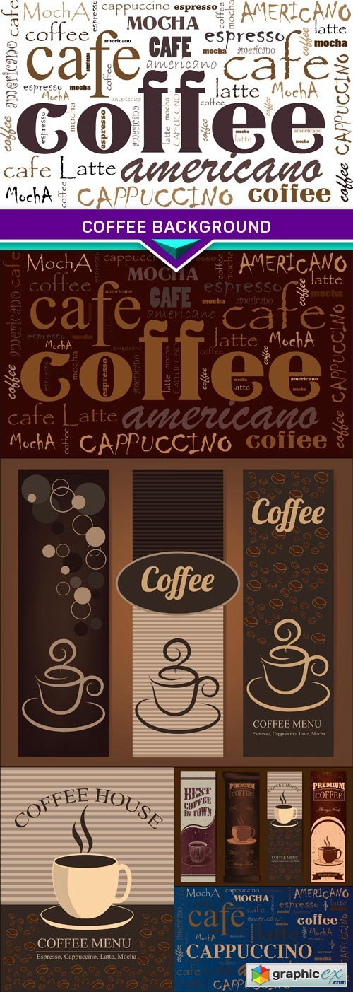 Coffee background 6X EPS