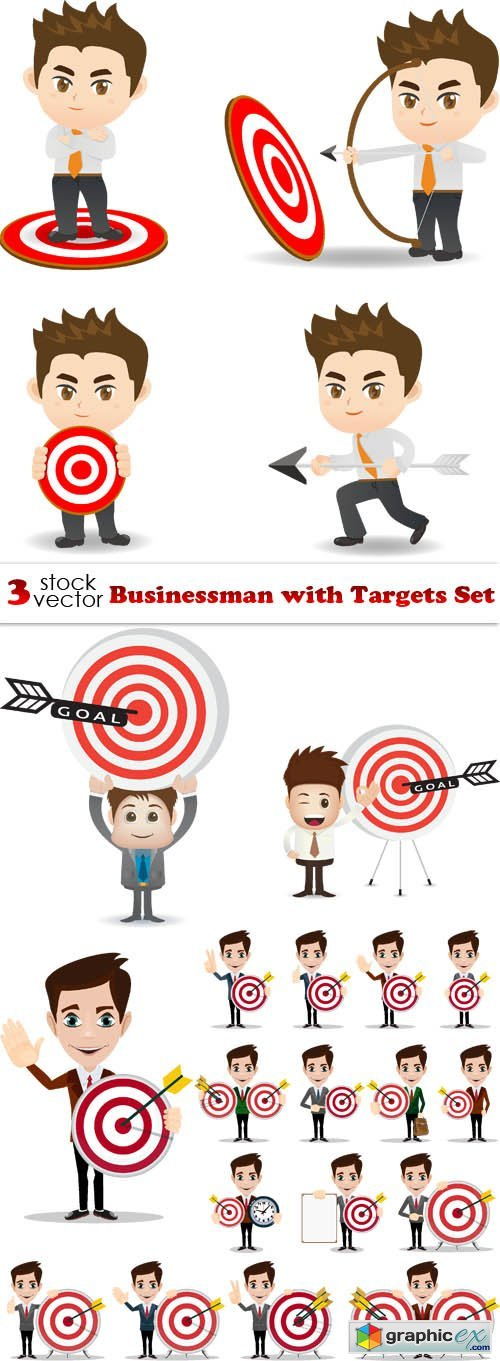 Businessman with Targets Set