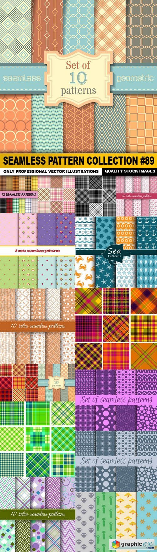 Seamless Pattern Collection #89 - 15 Vector