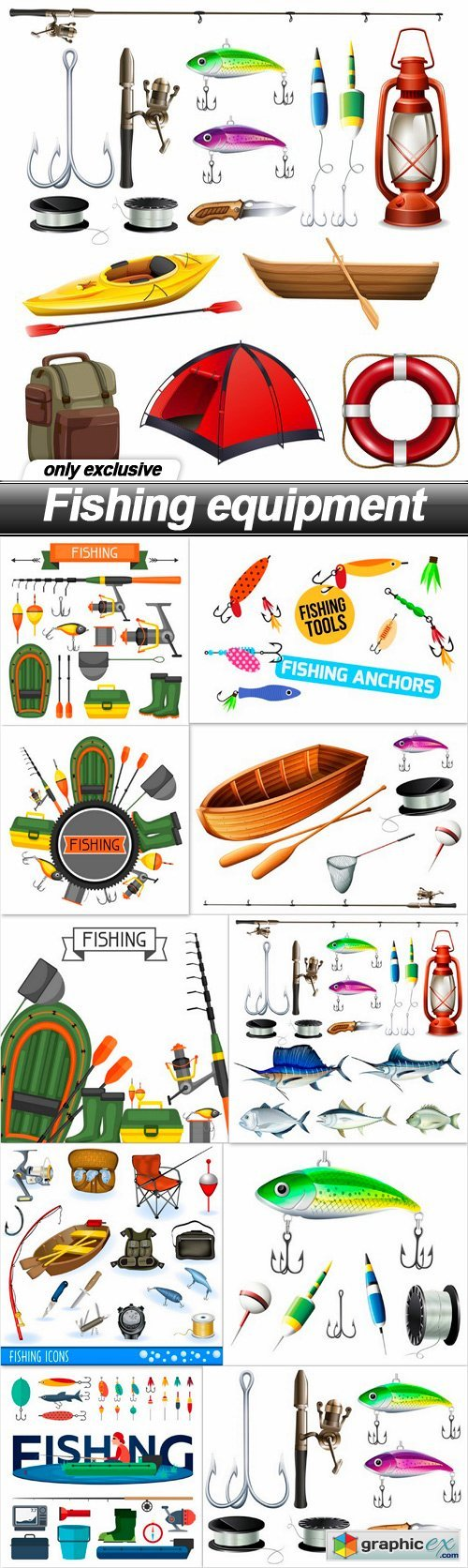 Fishing equipment - 11 EPS