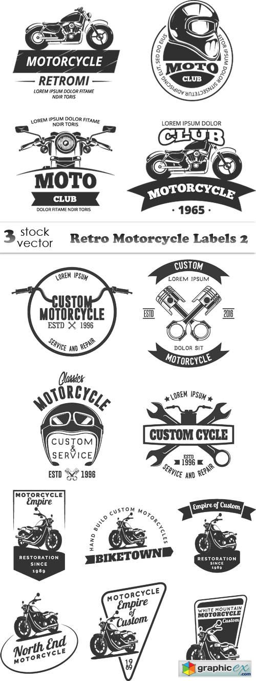 Retro Motorcycle Labels 2