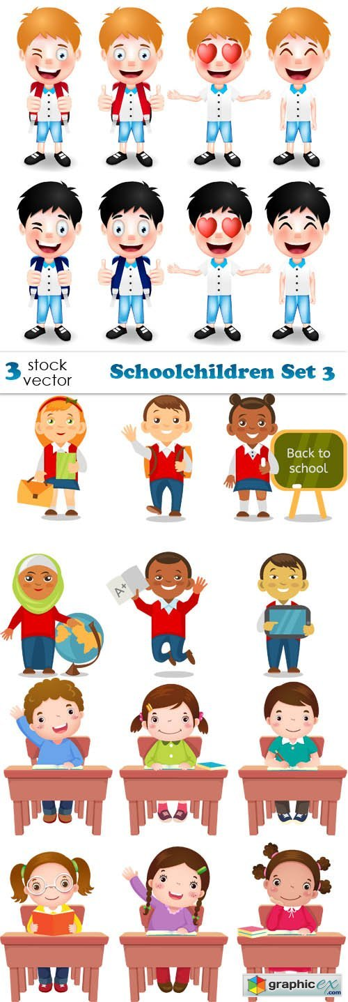 Schoolchildren Set 3