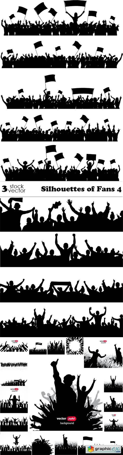 Silhouettes of Fans 4