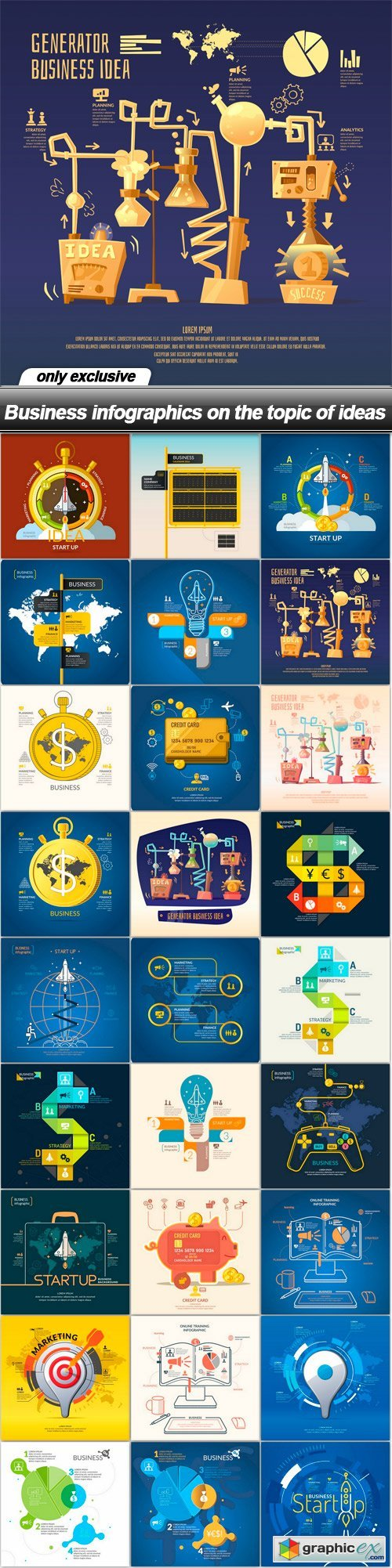 Business infographics on the topic of ideas - 27 EPS