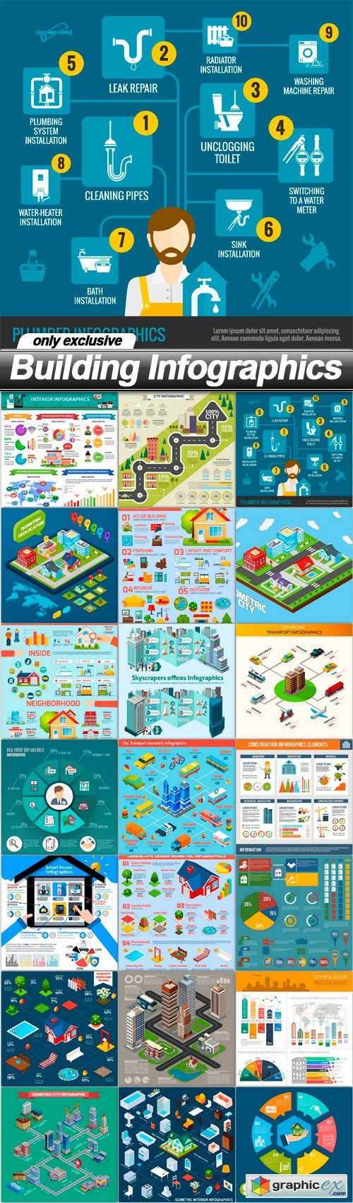 Building Infographics - 21 EPS