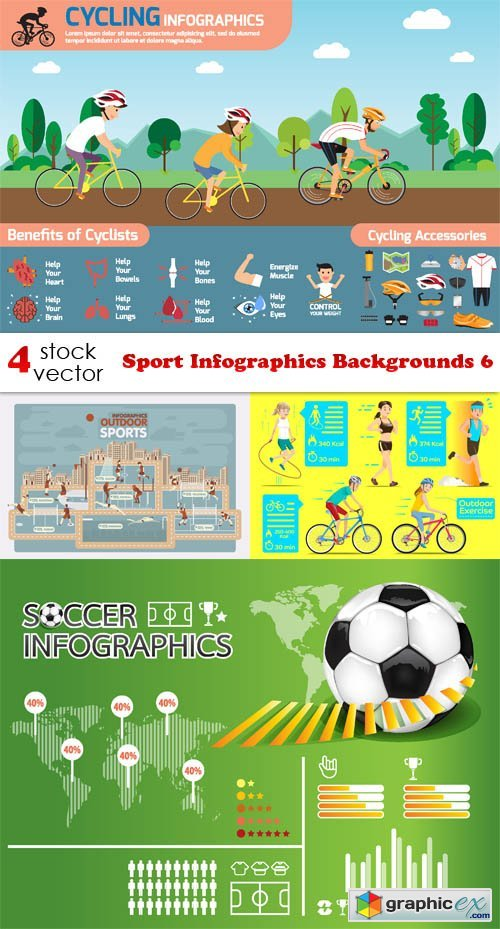 Sport Infographics Backgrounds 6