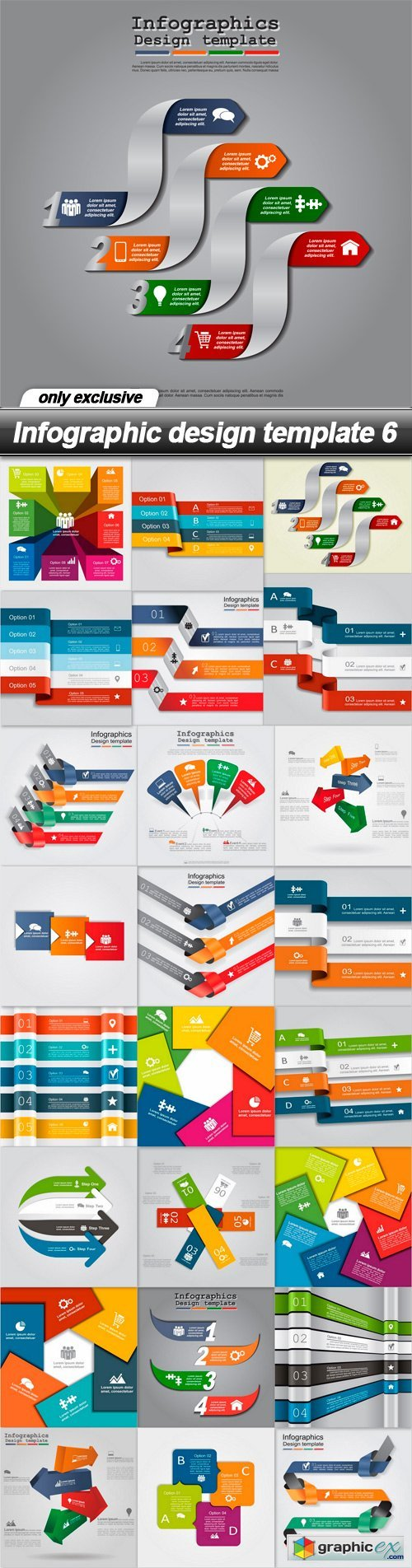 Infographic design template 6 - 25 EPS