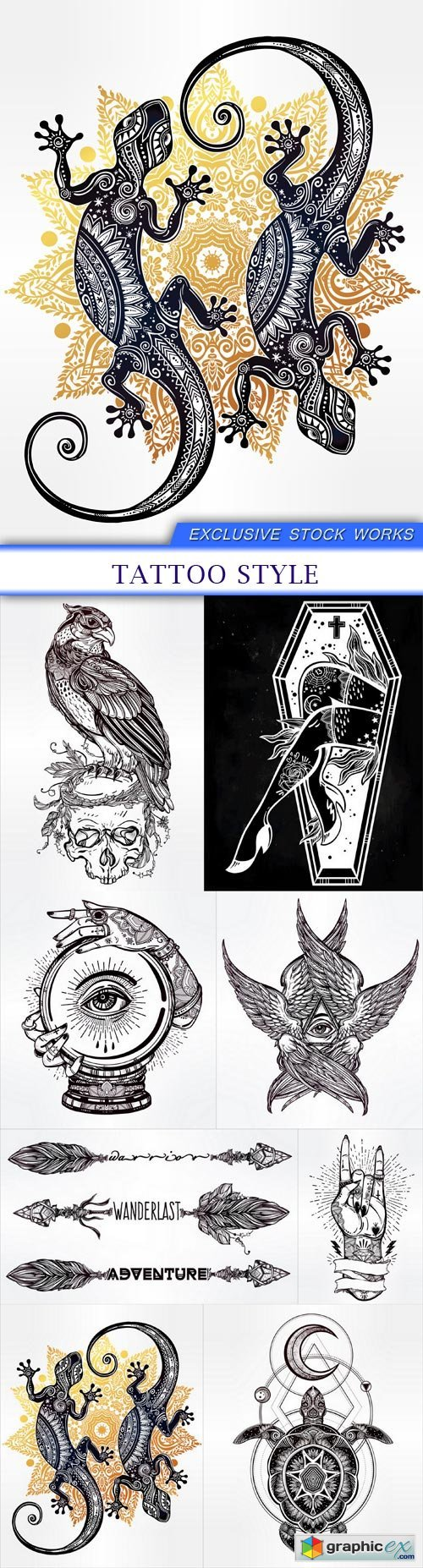 tattoo style 8X EPS