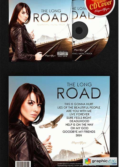 The Long Road CD Cover PSD Template