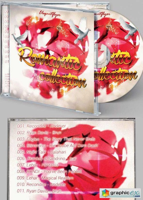 Romantic Collection CD Cover PSD Template